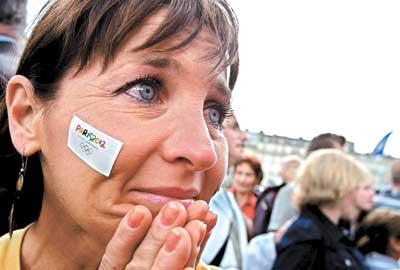申奥2012之负者:嘘声!巴黎输到近乎愤怒(图)