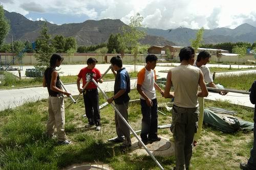 美女野兽登山先遣队西藏训练