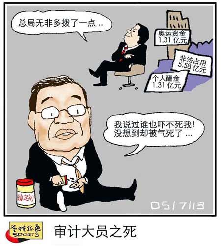 老桂狐画SPORTS:审计大员之死
