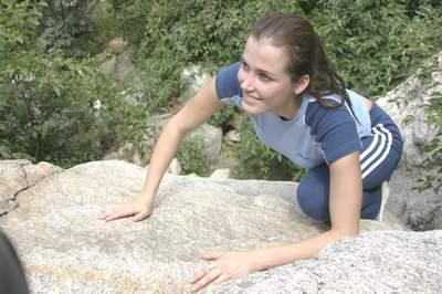 花絮图:世界小姐与中国山峰的亲密接触