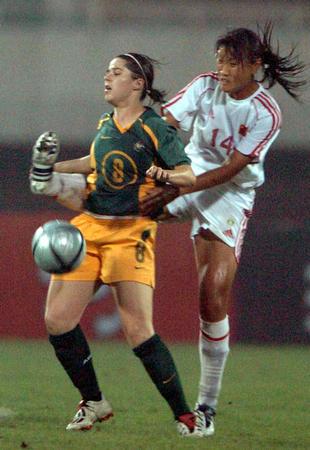 图文:中澳女足首场对抗赛