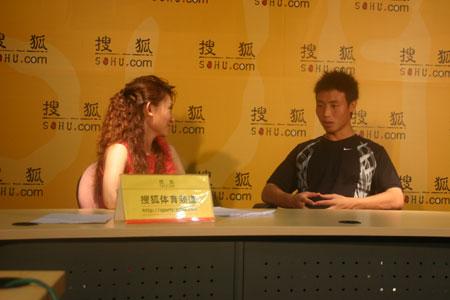 图文:陈涛做客搜狐