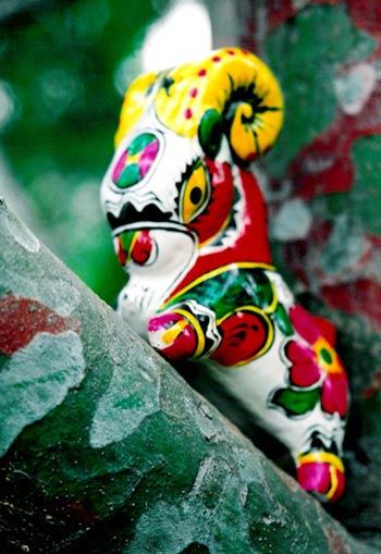 陶瓷泥塑动物工艺作品