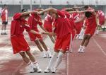 图文:中国女足备战中澳对抗赛 中国女足队员