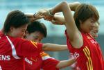图文:中国女足备战中澳对抗赛第二场2