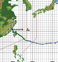 台风海棠示意图
