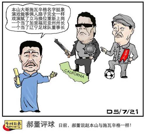 老桂狐画SPORTS:郝董评球