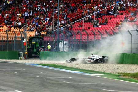 F1德国站排位赛:蒙托亚意外成就雷克南夺取杆位