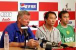 图文:曼联工体3-0完胜北京现代 新闻发布会现场