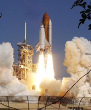 Discovery blasts off on shuttle mission