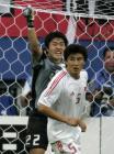 图文:中国战平韩国 国足门将李雷雷