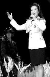昨晚观大型音乐舞蹈《一个士兵的日记》(组图)