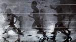 图文:世锦赛第四日 运动员影子倒映在雨水中
