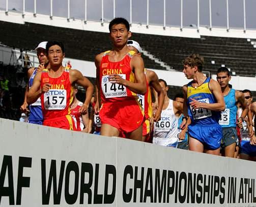 世锦赛男子50公里:赵成良第五 科德亚普金夺冠