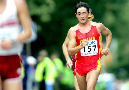 图文:田径世锦赛 赵成良获男子50公里竞走第五