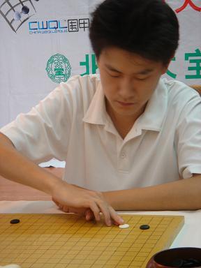 图文:北京大宝VS贵州咳速停 孔杰在对局中