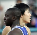 图文:世锦赛男子110米栏 刘翔与杜库雷