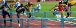 图文:世锦赛男子110米栏 刘翔在比赛中瞬间