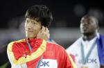 图文:世锦赛男子110米栏 刘翔获得银牌