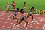 图文:美国选手折桂女子200米 冲刺瞬间