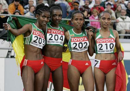 图文:田径世锦赛女子5000米 埃塞俄比亚优势明显