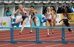 图文:女子400米栏佩琼金娜夺冠 冠军一马当先