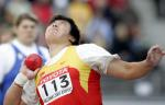 图文:李梅菊获女子铅球第七 奋力一投