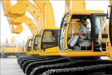 现代(江苏)工程机械有限公司与韩国总部共同开发挖掘机(图)