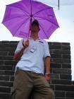 图文:菲尔普斯雨中游长城 留影做纪念别有情趣