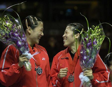 [体育](4)羽毛球――中国选手包揽世锦赛女双前三名