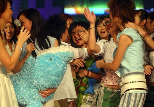 """图文:2005""""超级女声""""总决选现场―4"""