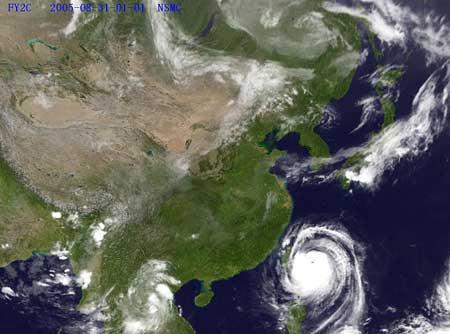"""""""泰利""""台风明晚登陆福建沿海 强度比麦莎厉害"""