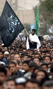 什叶派和逊尼派举行反战游行