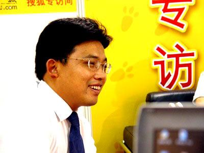 """图:""""金博会""""访谈嘉宾民生银行北京管理部财富中心主任金富祯"""