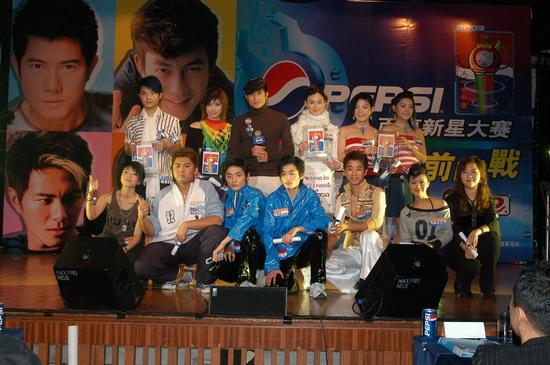 图文:2003百事新星大赛训练营-7