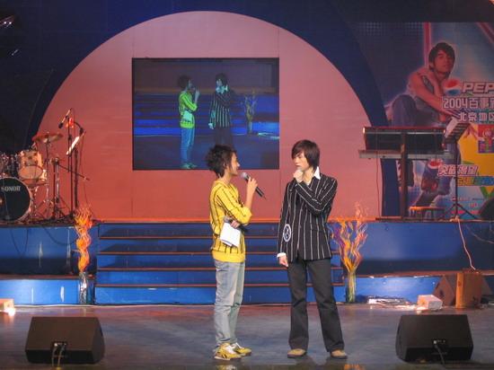 图文:2004百事新星大赛训练营-1