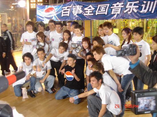 图文:2004百事新星大赛训练营-6