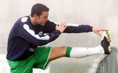图文:爱尔兰备战世界杯预选赛 奥谢在训练中
