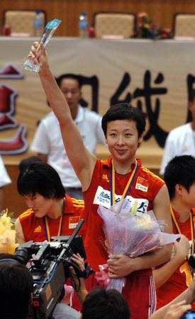 图文:女排亚锦赛夺冠
