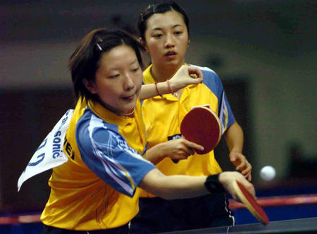 图文:中国乒乓球队包揽全部金牌