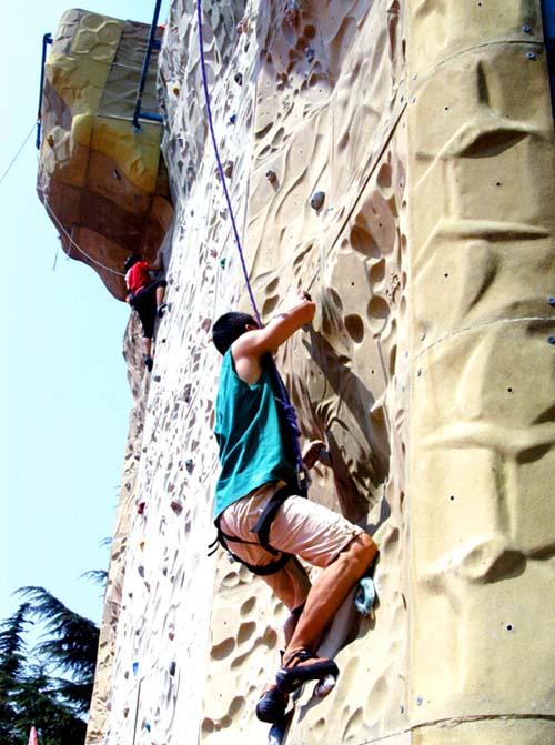 攀岩锦标赛在烟台举行 百余男女选手参赛[图]