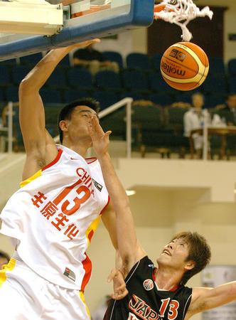 [体育](1)篮球――男篮亚锦赛:中国胜日本