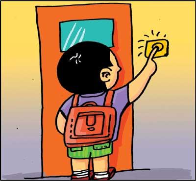 举手提问卡通-文明礼仪系列报道之校园礼仪 相互关爱 爱会越来越多
