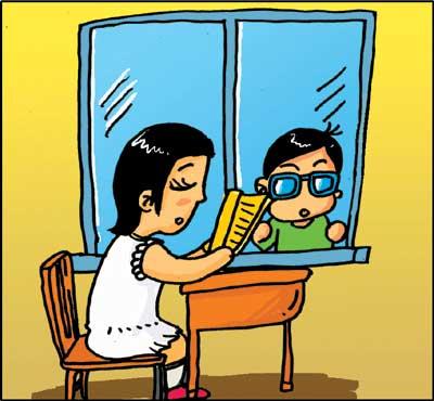 卡通礼仪背景图