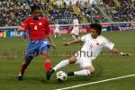 独家图片:中国1-1哥斯达黎加 古今今前场反抢