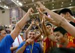 图文:中国男篮亚锦赛夺冠 尤纳斯喜出望外