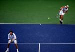 图文:中网赛况 吉梅尔斯托布/希利在比赛中