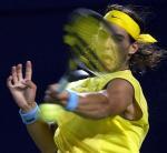 图文:中网赛况 西班牙选手纳达尔在比赛中