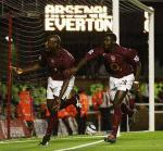 图文:阿森纳两球力克埃弗顿 坎贝尔奔跑庆祝