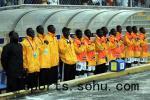 图文:世少赛中国1-1加纳 加纳队替补阵容